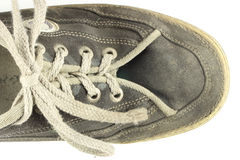 Old dirty worn shoe Royalty Free Stock Image