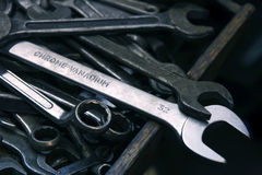 Old dirty wrenches Stock Photography