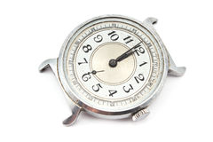 Old dirty wristwatch Stock Images