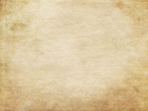 Old dirty and yellowed paper texture. Royalty Free Stock Images