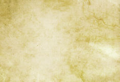 Old dirty and yellowed paper texture. stock photo