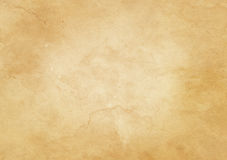 Old dirty and yellowed paper texture. Stock Photos