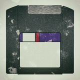 A old dirty Zip Disk royalty free stock photo