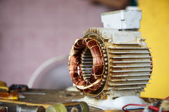 Old disassembled electric motor Royalty Free Stock Photo