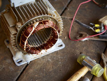 Old disassembled electric motor Stock Photography