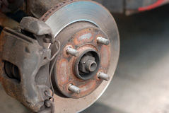 Old Disc Brake Stock Photography