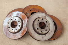 The old disc brake Stock Image