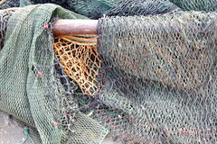 Old Discarded Fishing Nets Stock Images