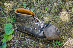 Old discarded shoe Royalty Free Stock Photography