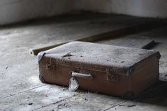 Old discarded suitcase Royalty Free Stock Image