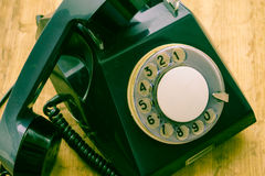 Old disk phone a means of communication of the past Stock Photos