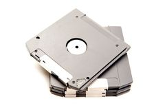 Old Disk. 90's drive Stock Image