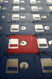 Old diskettes royalty free stock images