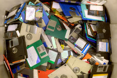 Old diskettes Stock Photography