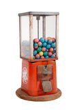 Old dispenser with colorful eggs inside stock photography