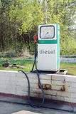 Old dispenser for diesel fuel Royalty Free Stock Photography