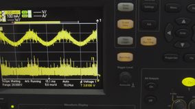 Old displays of professional analog vu metres in a recording studio, measuring and showing decibels of sound, standard. Volume indicator. Sound waves royalty free stock image
