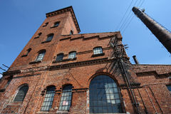 Old distillery. Old abandoned industrial architecture in Poland. Former distillery in Kochcice, Upper Silesia stock photography