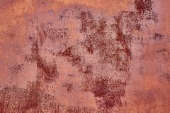 Old Distressed Brown Terracotta Copper Rusty Background with Rough Texture Multicolored Inclusions. Stained Gradient. Coarse Grainy Surface. Wallpaper Template royalty free stock images