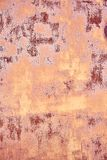 Old Distressed Brown Terracotta Copper Rusty Background with Rough Texture Multicolored Inclusions. Stained Gradient. Coarse Grainy Surface. Wallpaper Template royalty free stock image
