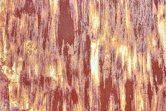 Old Distressed Brown Terracotta Copper Rusty Background with Rough Texture Multicolored Inclusions. Stained Gradient. Coarse Grainy Surface. Wallpaper Template stock photos