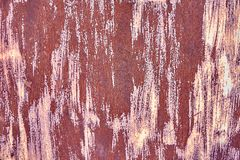 Old Distressed Brown Terracotta Copper Rusty Background with Rough Texture Multicolored Inclusions. Stained Gradient. Coarse Grainy Surface. Wallpaper Template royalty free stock photography