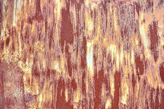 Old Distressed Brown Terracotta Copper Rusty Background with Rough Texture Multicolored Inclusions. Stained Gradient. Coarse Grainy Surface. Wallpaper Template stock image
