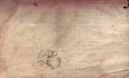 Old Distressed Paper. Vintage distressed paper with stains, burn marks and rips stock photos