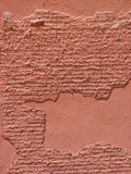 Old distressed red cement and brick wall Royalty Free Stock Images