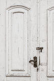 Old distressed white doors Royalty Free Stock Photo