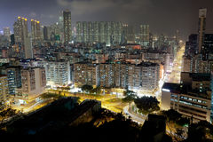 Old District Night Landscape Stock Image