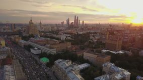 The old districts of Moscow in the evening