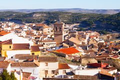 Old districts in spanish town. Chinchilla. De Monte-Aragon, province of Albacete, Spain Royalty Free Stock Photo