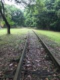 Old disused railway track. An old disused abandoned railway track in asia Stock Images