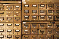 Old Disused Filing Cabinets. A view of old and unused filing cabinets Stock Image