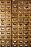 Old Disused Filing Cabinets. Old, no longer used filing cabinets Royalty Free Stock Photography