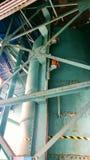Old disused Irish pumphouse. Ships vintage water cylinder Titanic, Belfast Stock Photos