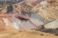 Old disused open cast copper mine. Workings Stock Photography