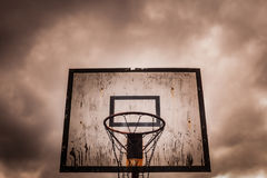 Free Old Disused Outdoor Basketball Hoop Royalty Free Stock Photography - 62612737
