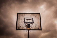 Old disused outdoor basketball hoop Stock Images
