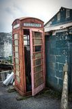 Old disused phonebox Stock Photo