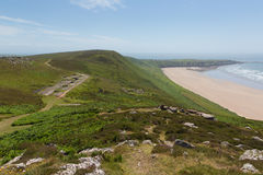 Old disused Radar Station Rhossili Down The Gower Wales UK Royalty Free Stock Photo