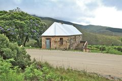 Old toll house in Montagu pass near George, South Africa. Old disused toll house situated next the road in the Montagu pass near George Stock Photography