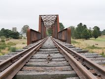 Abandoned railway bridge royalty free stock photography
