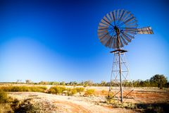 Australian Windmill Royalty Free Stock Photos