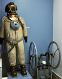 Old diver's suit in a museum Stock Photos