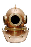 Old diving helmet. Old diving vintage metal helmet Stock Photos