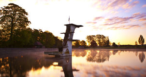 Old Diving Platform Coate Water Stock Photo