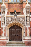 Old Divinity School of St John`s College. Cambridge, England. Entrance to the Old Divinity School of St John`s College  in Cambridge University. Cambridge Royalty Free Stock Photos