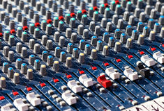 Old Dj sound mixer. Royalty Free Stock Image